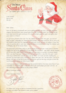 santa writes personalised christmas letters